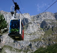 The cable car at Fuente De