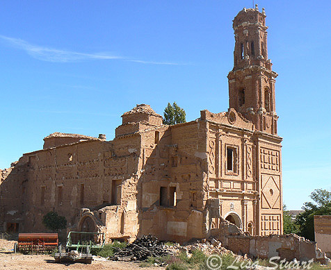 The ruined church in Belchite
