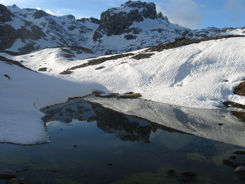 One of January's melting tarns